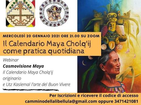 Il Calendario Maya Cholq'ij come pratica quotidiana. Webinar. Mercoledì 20 gennaio 2021 su Zoom.
