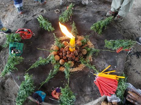 Cerimonia Maya del Fuoco per la Celebrazione del NIM UPAM RI Q'IJ, il Solstizio d'Estate  Me