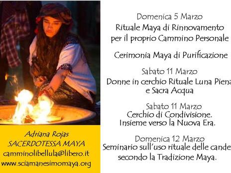 SEMINARIO SULL'USO RITUALE DELLE CANDELE SECONDO LA TRADIZIONE MAYA. Con Adriana Rojas. Domenica
