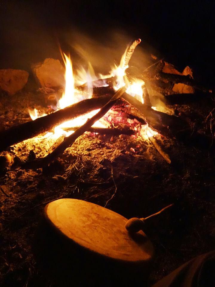 tamburo, fuoco, cerimonia. maya