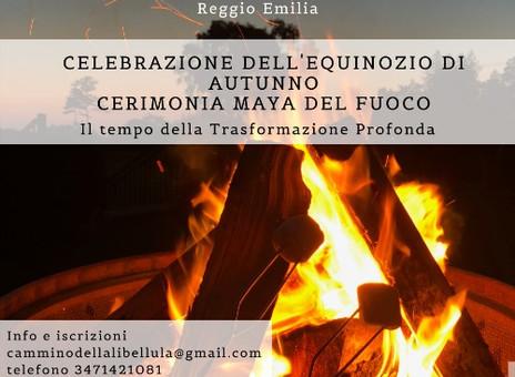 Cerimonia Maya del Fuoco. Celebrazione dell'Equinozio di Autunno. Domenica 20 settembre ore 15.30.