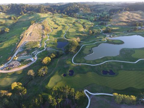 Overview of Wainui's Golf Club