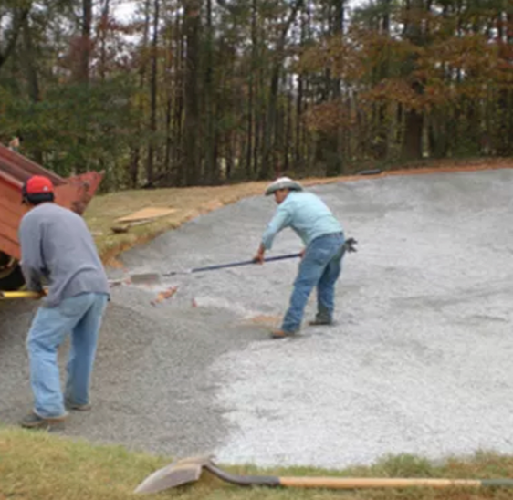 """Step 2: Install 2"""" layer of Gravel"""