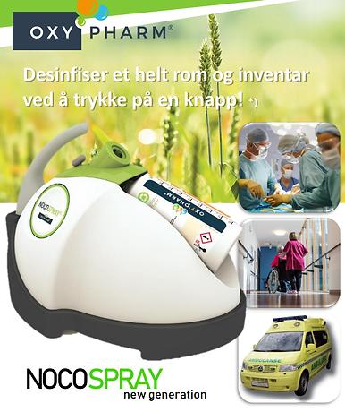 nocospray smittesanering desinfeksjon desinfeksjonsrobot smittesaneringsrobot