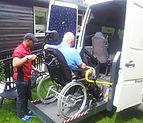 Minibuss med rullestorampe