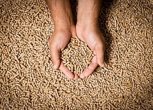 Bulk Tipped/Blown Wood Pellets (Call for price and delivery)