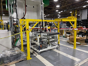 Conveyor and SM Frame being installed.jp