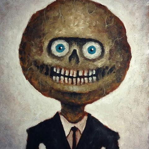 """Mr. Meathead"" painting by Matt Duncan"