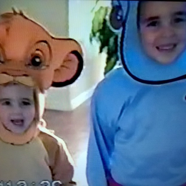 My brother and I as Simba and Genie on Halloween