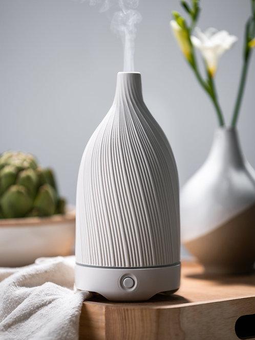 Textured White Ceramic Vase Diffuser