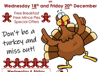 Barnsley Breakfast Mornings - Wednesday 18th & Friday 20th December