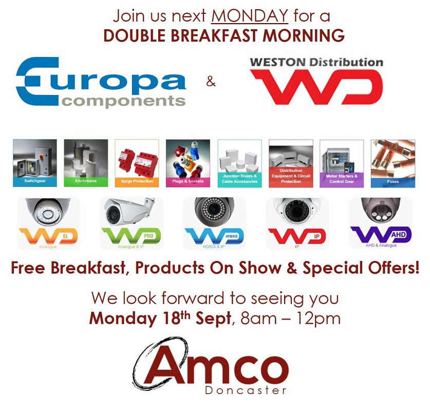 Amco Doncaster Breakfast Morning Monday 18th September