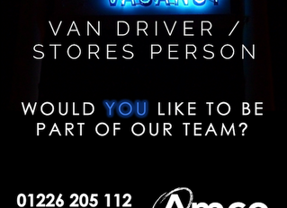 Barnsley are looking for a Van Driver / Stores Person to join their team