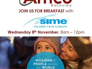 Barnsley Breakfast Morning - Wednesday 8th November