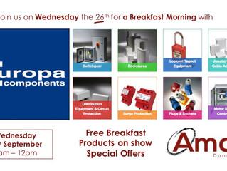 Doncaster Breakfast Morning - Wednesday 26th September
