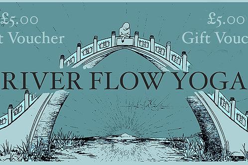 £5 River Flow Yoga Gift Voucher