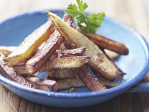 Einmal aufwärmen, bitte: Gebackene Süßkartoffeln mit Ingwer und Honig