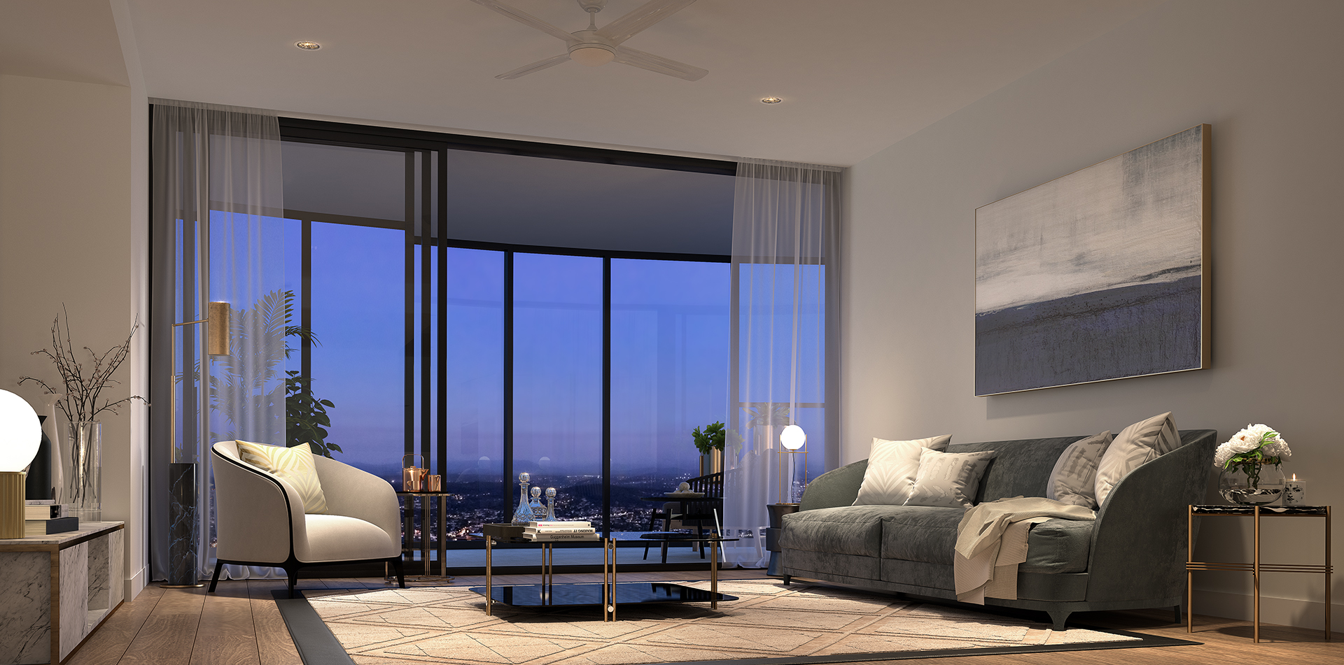 Copy of The One Residences 3 bed Living