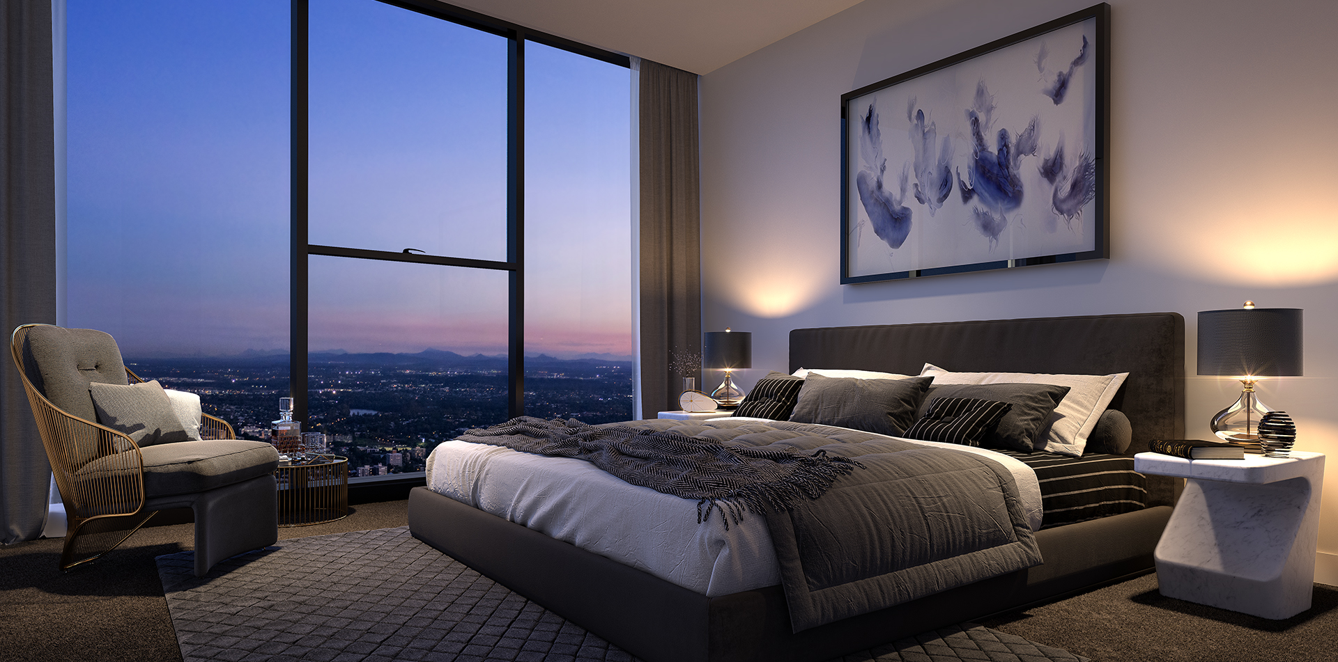 The One Residences 3 bed Bedroom.png