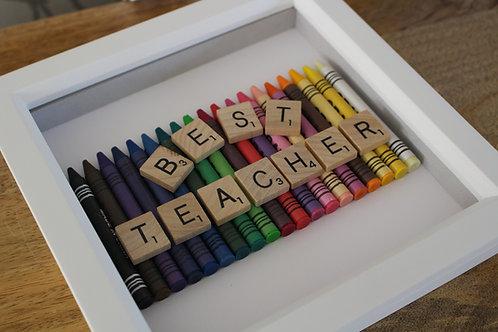 Wax Crayons Best Teacher