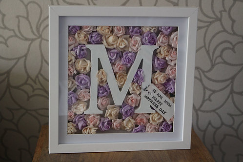 Personalised Floral Letter M