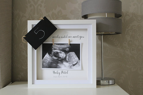 Personalised Countdown Scan Frame