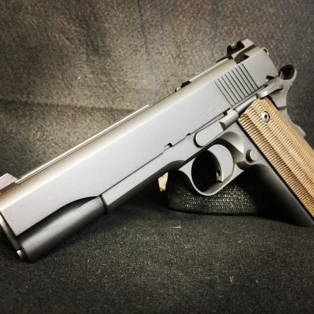 Awesome Dan Wesson 1911 finished with Cerakote Gun Coatings, custom mix Parkerized Grey