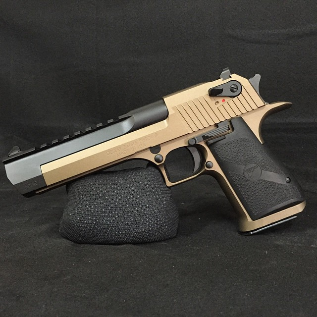 Desert Eagle finished in Cerakote Burnt Bronze and Graphite Black