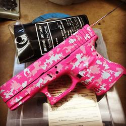 That's A LOT of Pink!!! #modernpaladin #glockporn #cerakote #mpgunworks #glock30