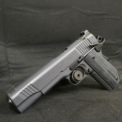 Kimber pistol finished in Cerakote Combat Grey and Graphite Black