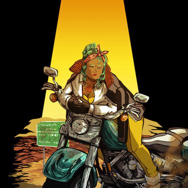 Motorcycling through the desert