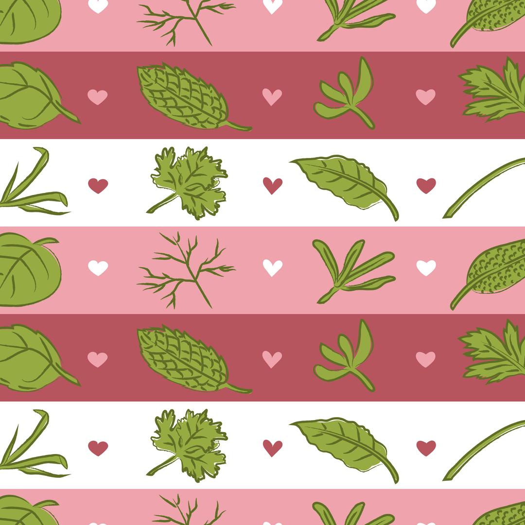 Herbaceous Love Pattern