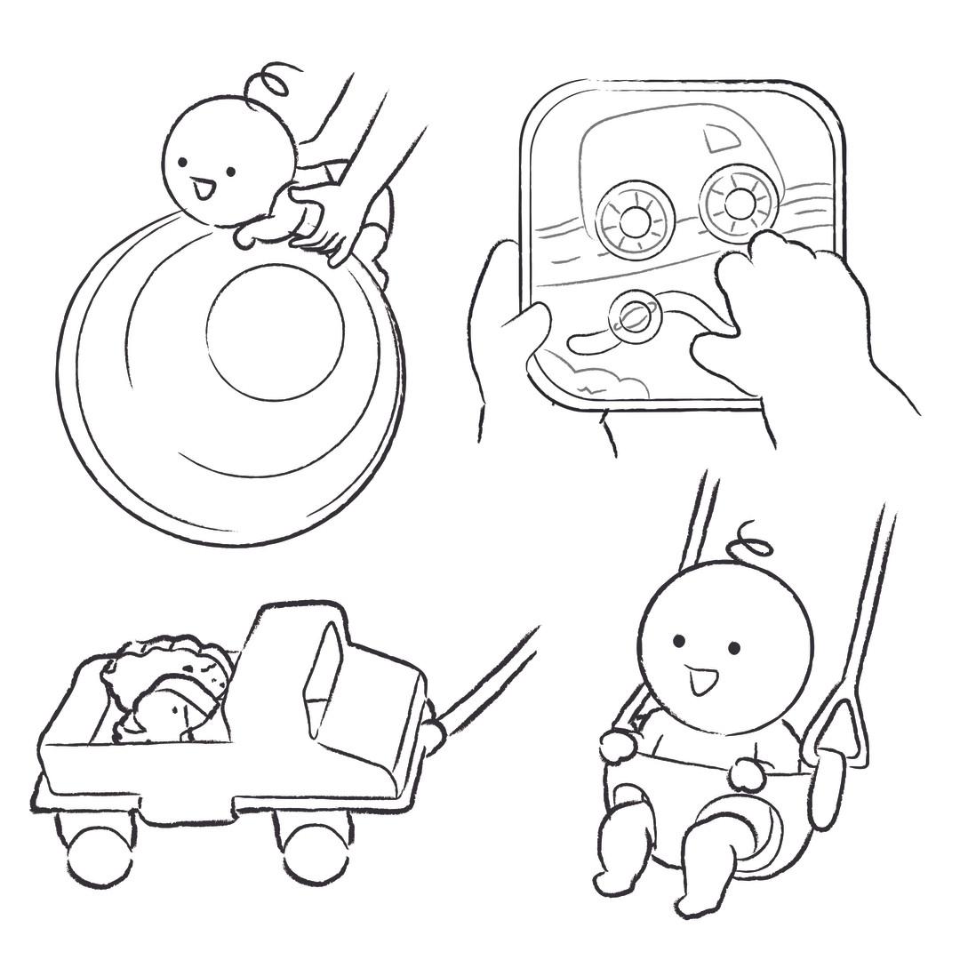 KiwiCo Panda Crate Illustrations