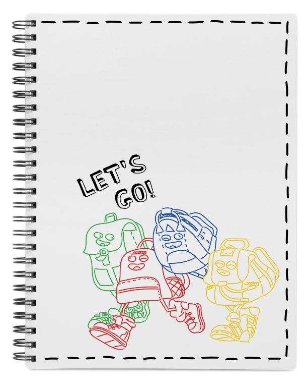 Backpack Characters Notebook