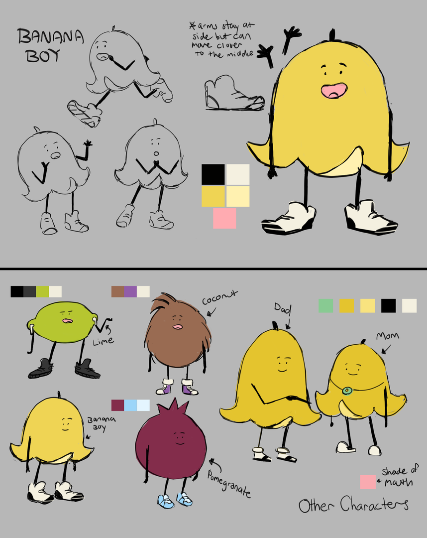 Characters with Colors