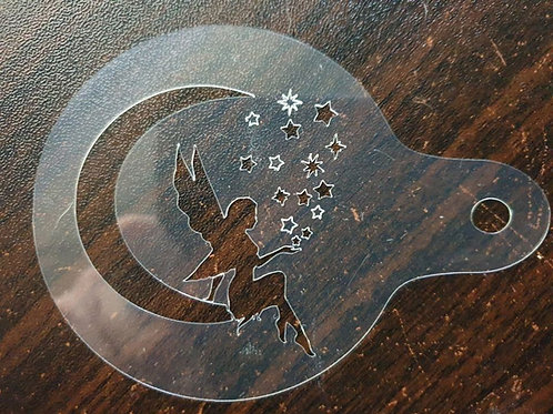 FAIRY IN MOON AND STARS BATHBOMB STENCIL