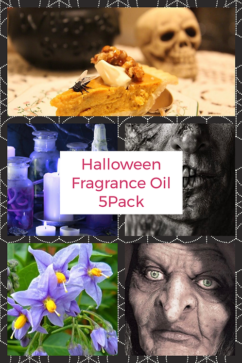 HALLOWEEN 5 PACK OF FRAGRANCE OILS