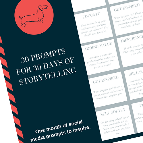 30 Prompts for 30 Days of Storytelling