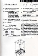 USA patent certificate
