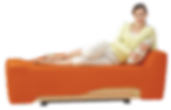 An orange empress chair