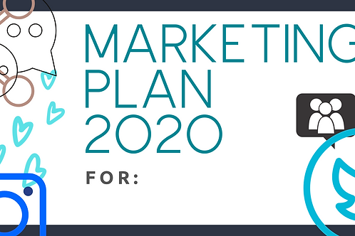 Marketing Plan 2020 Template