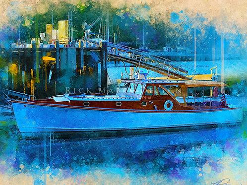 Sunset Boat Docked