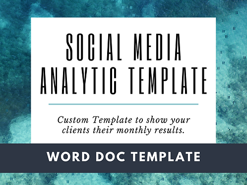Social Media Analytics Template
