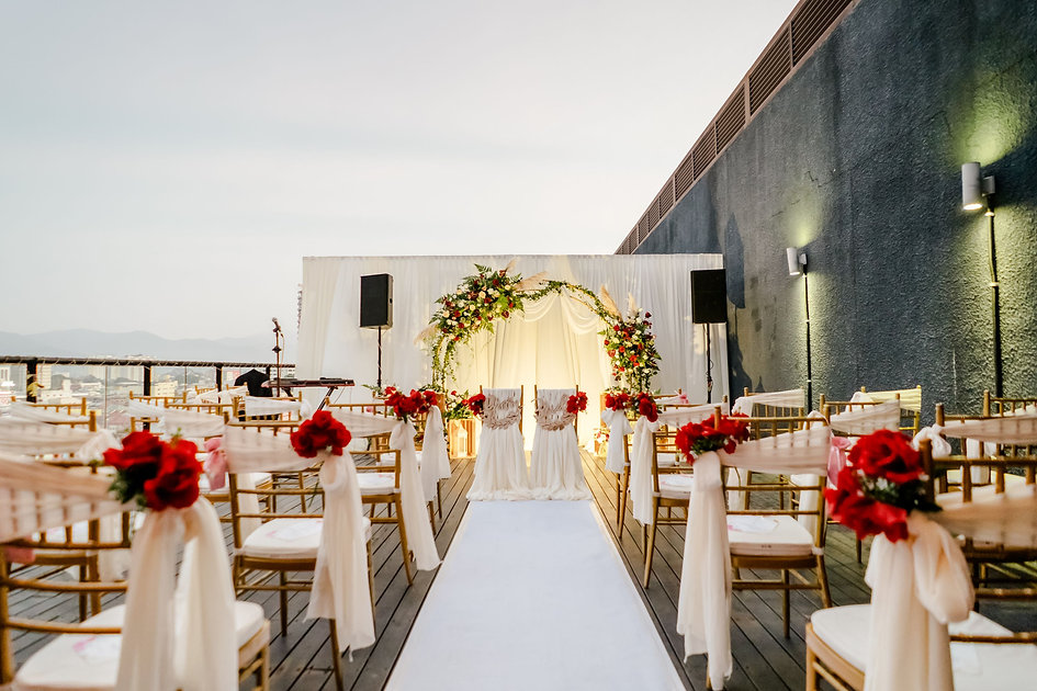 Guest and couple chair decoration