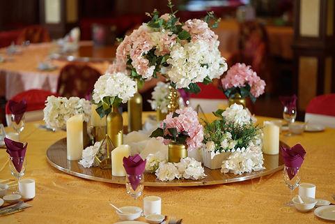 VIP table flower decoration