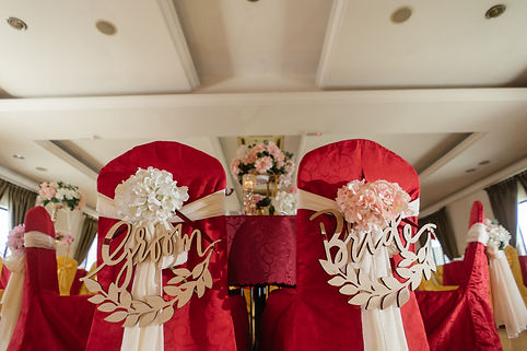 Bride and Groom VIP chair decoration