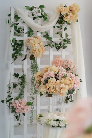 Nature stage backdrop decoration