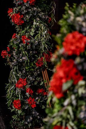 Floral pillar