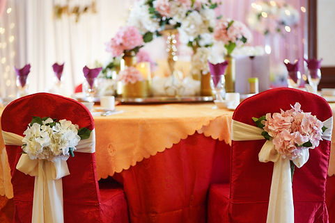 VIP table floral chair decoration