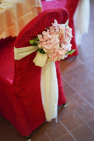 VIP chair floral decoration